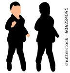 isolated silhouette of baby... | Shutterstock .eps vector #606234095