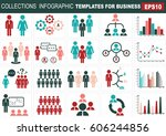 collection of infographic... | Shutterstock .eps vector #606244856