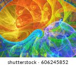 Abstract Fractal Background 3d...