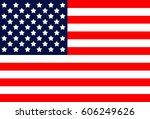 usa america united flag symbol... | Shutterstock . vector #606249626