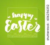 vector hand drawn brush... | Shutterstock .eps vector #606256352