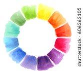 Color Wheel. Watercolor Spectrum