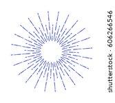 vintage sunburst. rays design... | Shutterstock .eps vector #606266546