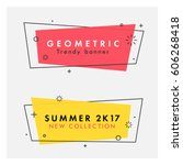 set of trendy flat geometric... | Shutterstock .eps vector #606268418