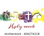 holy week  passion and...   Shutterstock . vector #606276218