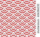 red fish scale background of... | Shutterstock .eps vector #606286232