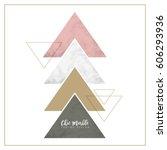 minimalist marble texture... | Shutterstock .eps vector #606293936