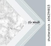 minimalist marble texture... | Shutterstock .eps vector #606294815