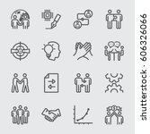 business partnership line icon | Shutterstock .eps vector #606326066