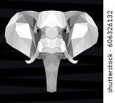 elephant head. nature and...