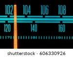 Vintage Fm Am Radio Glowing...