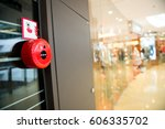 fire alarm on the wall of... | Shutterstock . vector #606335702