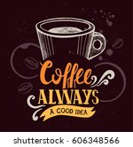 coffee menu graphic element for ... | Shutterstock .eps vector #606348566