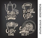 coffee menu graphic element for ... | Shutterstock .eps vector #606348656