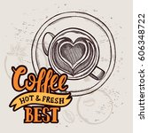 coffee menu graphic element for ... | Shutterstock .eps vector #606348722