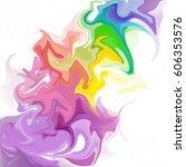 colorful digital acrylic color... | Shutterstock . vector #606353576