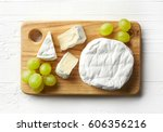 cutting board of camembert... | Shutterstock . vector #606356216