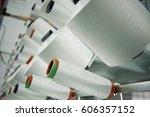 textile industry   yarn spools...   Shutterstock . vector #606357152