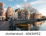 Amsterdam Canals Winter Sunny...