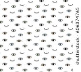 seamless pattern in the style... | Shutterstock .eps vector #606374765