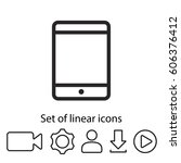 tablet  linear icon. one of a...
