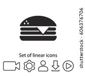 hamburger icon. one of set web... | Shutterstock .eps vector #606376706