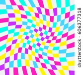 unequal twisted multicolor... | Shutterstock .eps vector #606377318