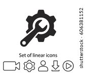 gear icon. one of set web icons