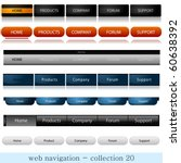 website navigation   Shutterstock .eps vector #60638392