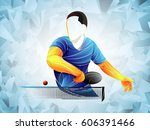 stylized player table tennis ... | Shutterstock .eps vector #606391466