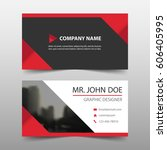 red triangle corporate business ... | Shutterstock .eps vector #606405995
