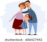 vector illustration of a happy... | Shutterstock .eps vector #606427442