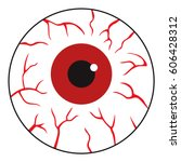 red eye ball | Shutterstock .eps vector #606428312