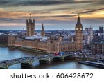 london  england   the famous...   Shutterstock . vector #606428672