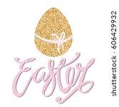 easter  unique typography...   Shutterstock .eps vector #606429932