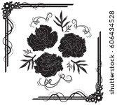 a beautiful bouquet of... | Shutterstock .eps vector #606434528
