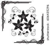 a beautiful bouquet of... | Shutterstock .eps vector #606435296
