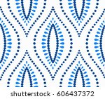 abstract floral pattern.... | Shutterstock .eps vector #606437372