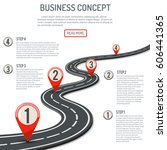 business concept with progress... | Shutterstock .eps vector #606441365