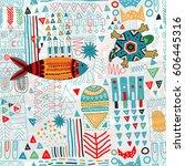 abstract seamless pattern.... | Shutterstock .eps vector #606445316