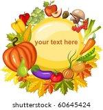harvest card | Shutterstock .eps vector #60645424