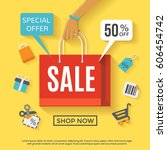 Sale Poster With Shopping Bag