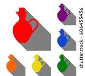 amphora sign illustration. set...