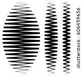 vertical criss cross wavy... | Shutterstock .eps vector #606459656