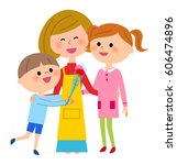 mother's day  parent and child   Shutterstock .eps vector #606474896