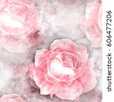 Roses Seamless Pattern. Mixed...