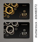 vip golden and platinum card... | Shutterstock .eps vector #606480572