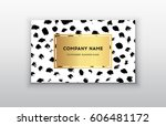 vector gold business card... | Shutterstock .eps vector #606481172