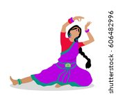 woman in indian national... | Shutterstock . vector #606482996