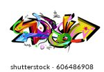 graffiti arrows designs. vector ... | Shutterstock .eps vector #606486908